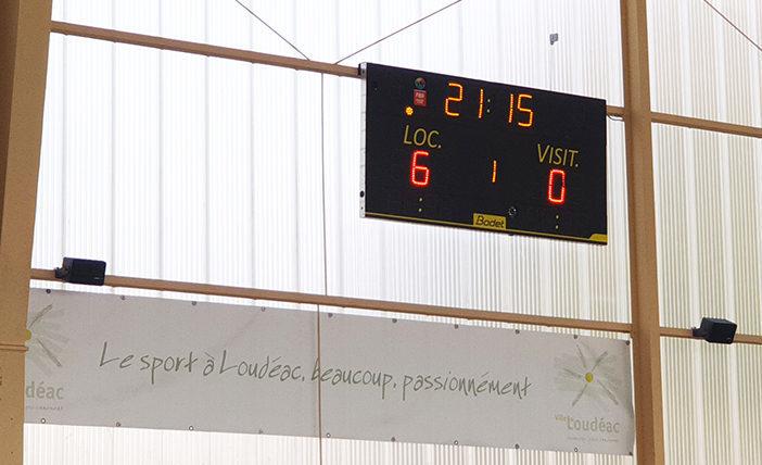 Affichage sportif gymnase de Loudéac Côtes d'Armor